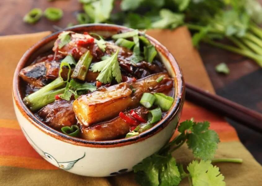 Баклажаны, рецепт со свежими грибами