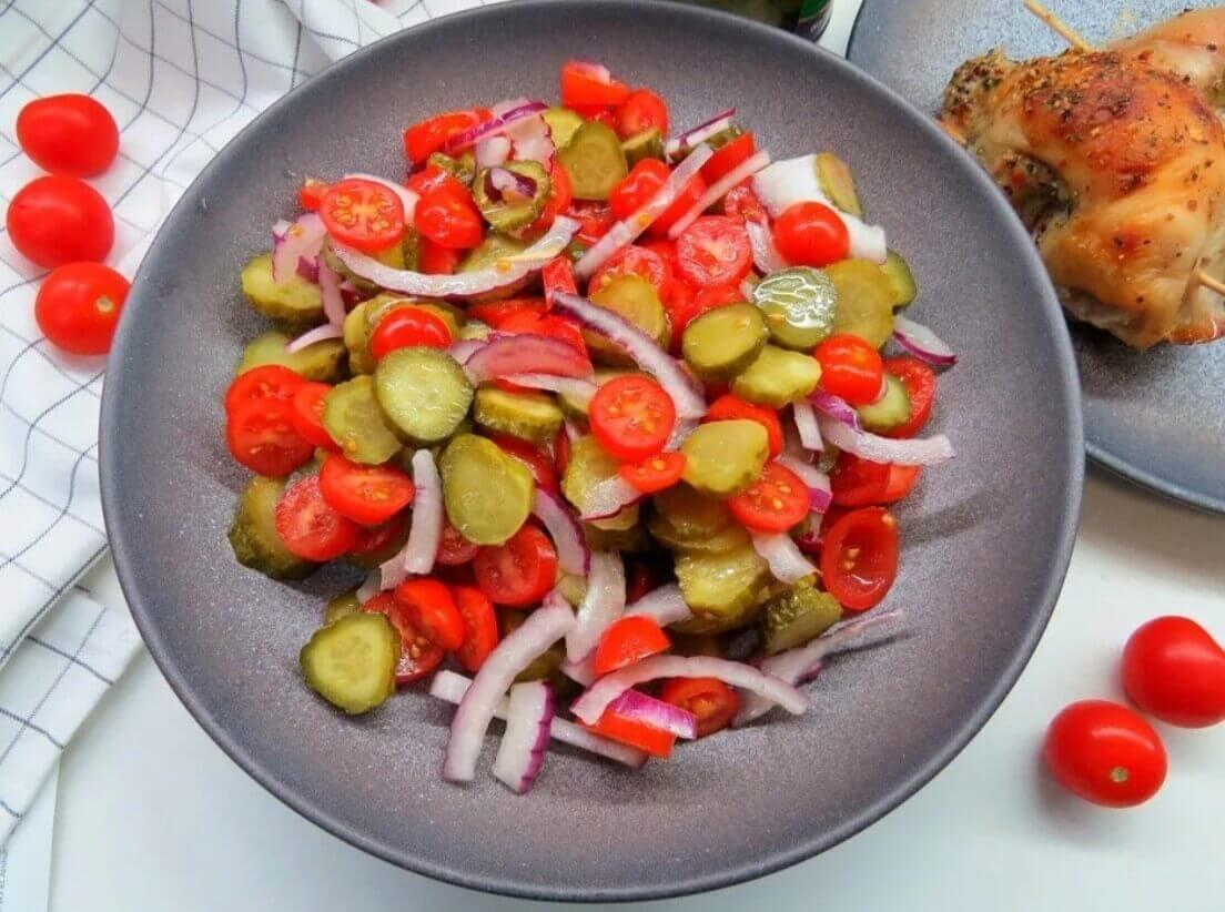 Недорогой легкий салат на скорую руку