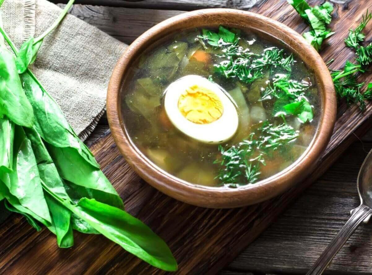 Польский суп с яйцом